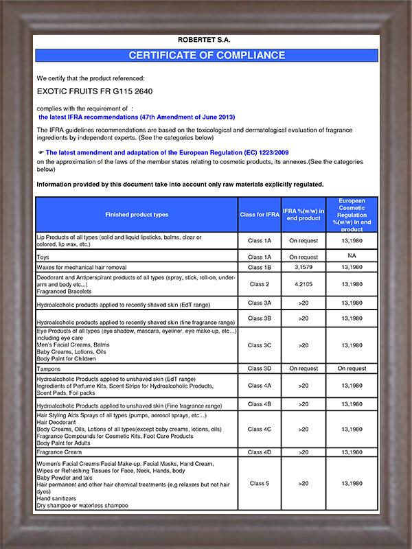 IFRA认证-2