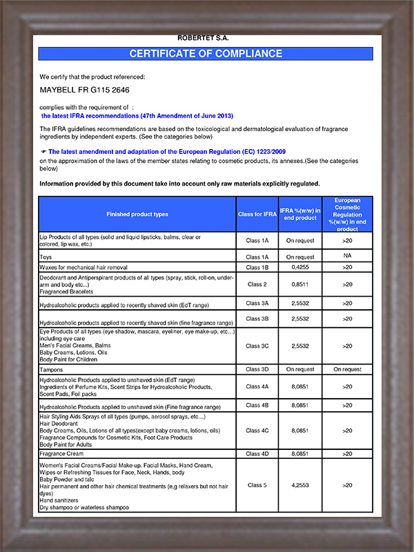 IFRA认证-6